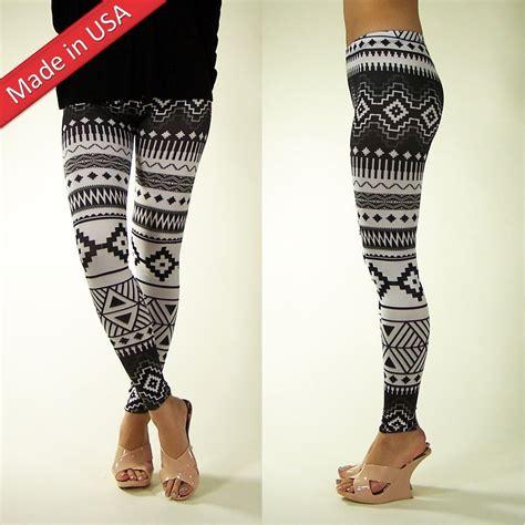 cute tribal pattern leggings new 2013 trendy black white aztec tribal cute leggings