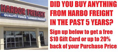 Buy Harbor Freight Gift Cards - did you buy anything from harbor freight get a 10 harbor freight gift card back from