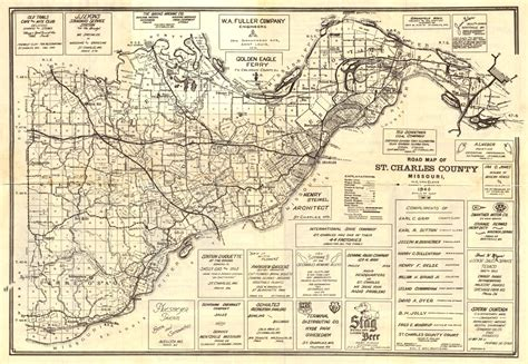 Charles County Search St Charles County Highway Map Circa 1940 St Charles City County Library