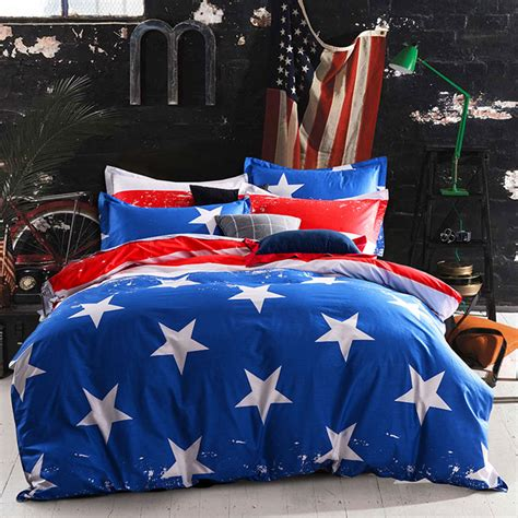 blue and red comforter sets gorgeous blue and red cotton bedding set ebeddingsets