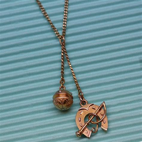 Pippin Vintage Jewelry by C1910 Handmade 14k Charm Pendant Pippin Vintage Jewelry