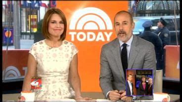 today show weather anchors nbc today show anchors matt lauer and savannah guthrie