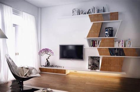 trendy tv wall units   modern living room