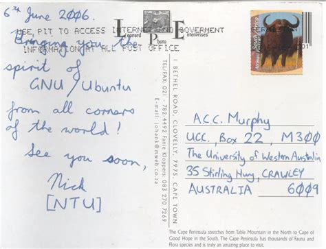 Who Sent The Postcard In Or Postcards To Ucc