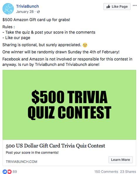 quiz contest themes 13 killer facebook contest ideas