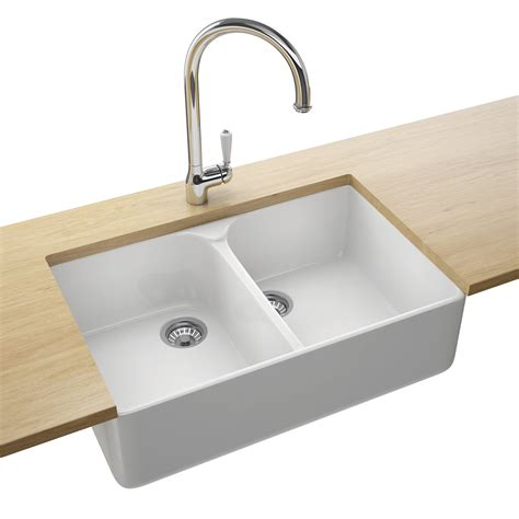 Franke Belfast Vbk 720 Ceramic White 2 0 Bowl Kitchen Sink Kitchen Sink