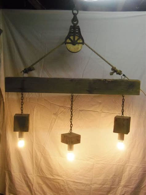 rustic beam light fixture pulley light rhu0027s industrial pulley single pendanta
