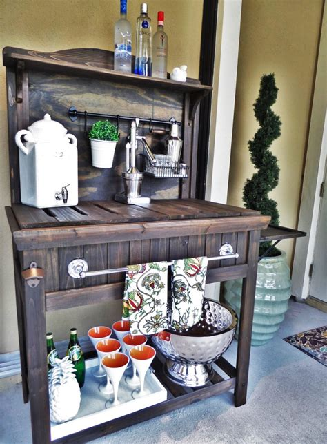 potting bench plans southern living diy potting bench turned outdoor bar be my guest with