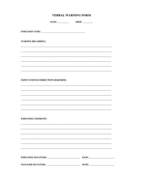written warning appeal letter sample verbal warning template 5