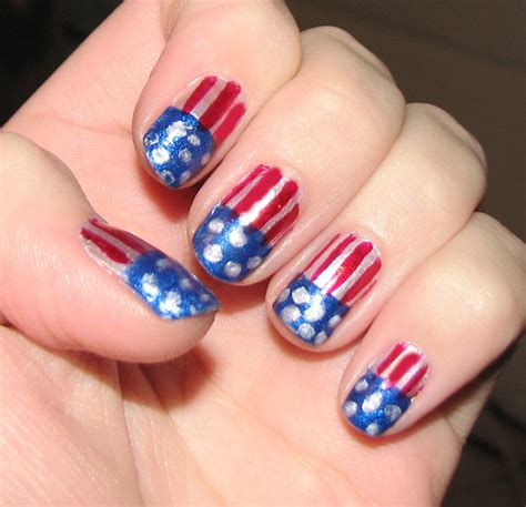 American Nails by American Flag Nail Inspired By Beyonce In The