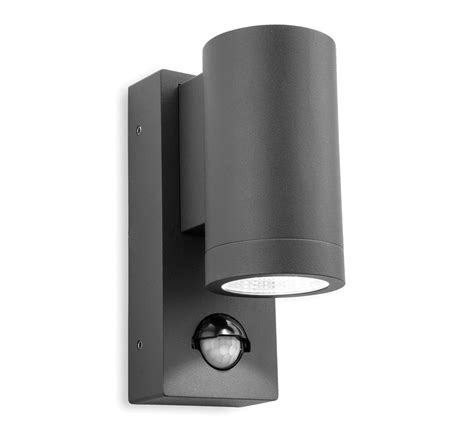 Outdoor Pir Led Lights Firstlight Shelby Ip65 Led 2 Light Outdoor Up Pir Sensor Wall Light Graphite Finish