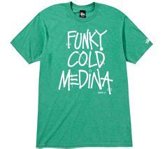 Kaos Kece Funky Cold Medina T Shirt Tone Loc Retro Rap Hip Hop 80s Con sittin on chrome stussy deliciousvinyl collab stussy x delicious vinyl 25th anniversary