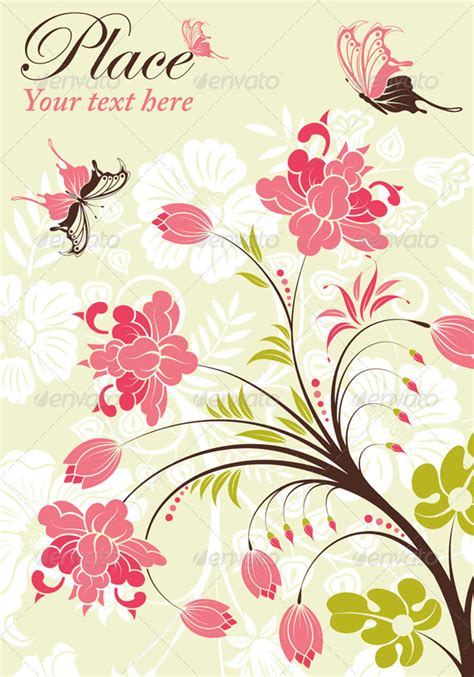 pattern bunga photoshop flower frame by talex graphicriver