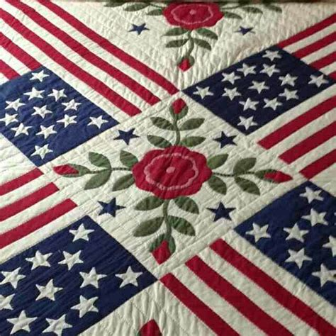 Americana Quilt by Americana Quilt White And Blue