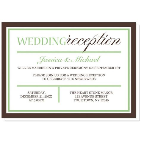 Wedding Reception Invitation Wording by Wedding Dinner Invitation Wording Ideas Mini Bridal