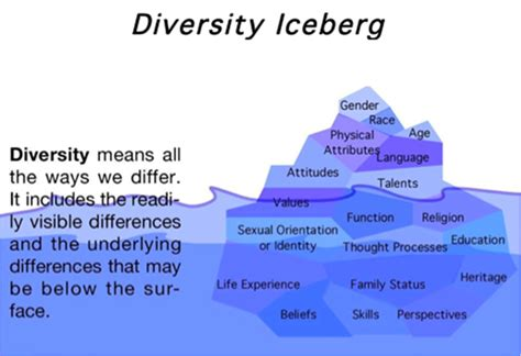 crossing the thinnest line how embracing diversity from the office to the oscars makes america stronger books image gallery diversity iceberg