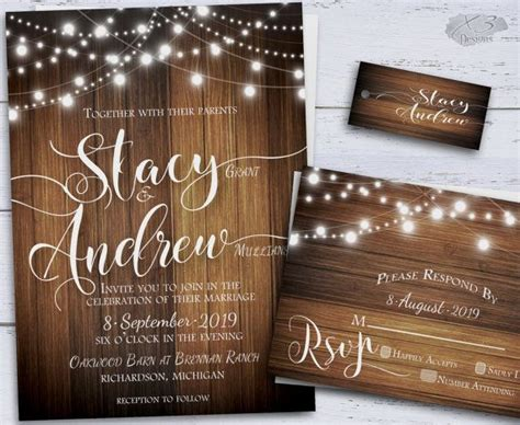 rustic wedding invitation country diy printable wedding