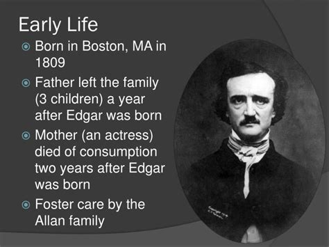 edgar allan poe biography early life ppt edgar allan poe powerpoint presentation id 5523674