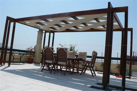 pergola with fabric canopy yard and garden