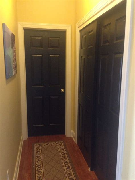 Painting Interior Doors Black by Painted Interior Doors Black For The Home