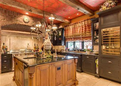 Dark Red Bedroom Ideas luxury country kitchen with reclaimed wood amp exposed brick