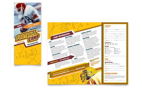 sports brochure templates free sports fitness 8 5x11 tri fold brochure templates