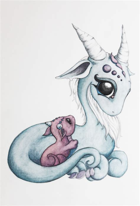 mama and baby dragon 2d dragons pinterest baby