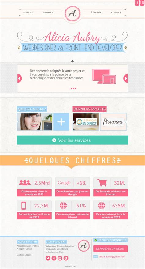 web design from home inspirational freelance web design alicia aubry webdesigner a front end developer a