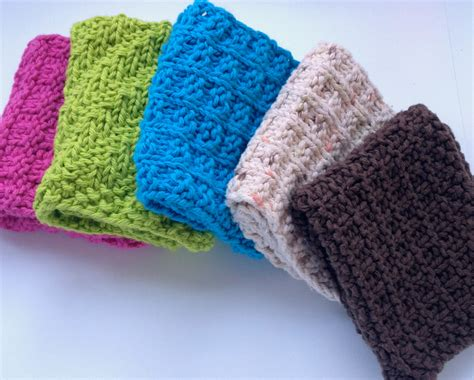 knitted dishcloths dish cloths west coast knitter