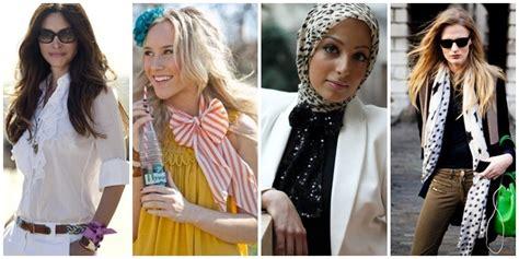 3 Way Sacrf 1 Syal Bisa Dipakai Dengan 3 Gaya Berbeda 2b2 7 cara kreatif dan cantik menggunakan scarf vemale