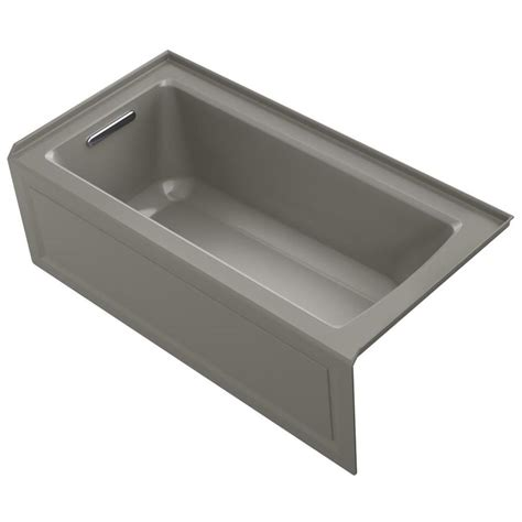 kohler acrylic bathtub reviews shop kohler archer 60 in cashmere acrylic bathtub with