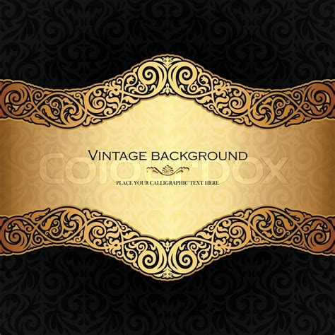 ornate vintage template background vector 04 over vintage background antique style invitation and greeting
