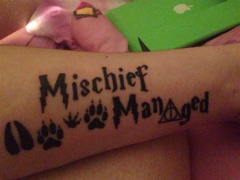 mischief managed tattoo 34 harry potter tattoos one is shocking
