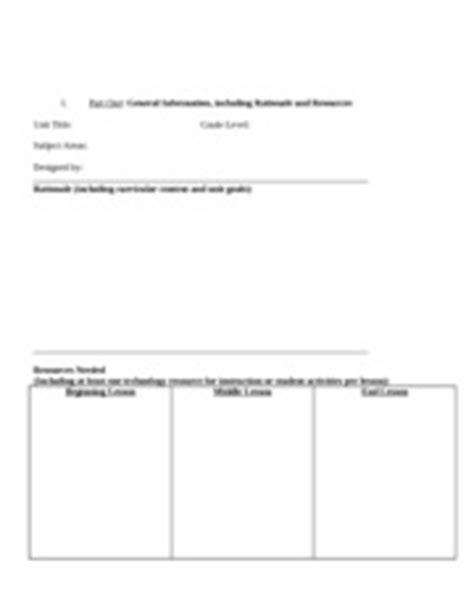 interdisciplinary unit plan template edu 611 interdisciplinary approaches to teaching content