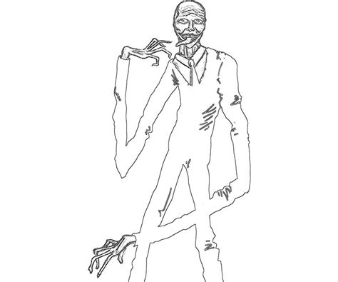 free coloring pages of slender man 8 pages