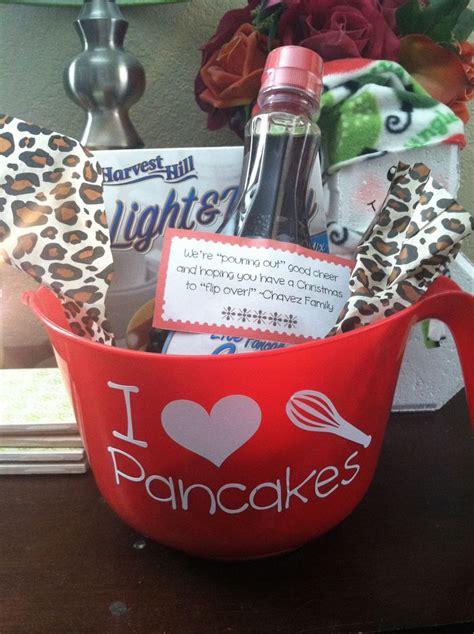dollar tree gifts pancake gift basket for neighbors dollar tree bowl mix