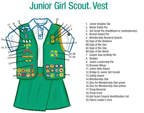 junior sash and vest where to put badges on junior vest junior girl