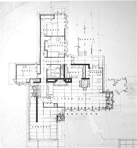 Frank Lloyd Wright Usonian House Plans Frank Lloyd Wright House Plans Seamour And Gerte Shavin Residence Chattanooga Tennessee 1950 17