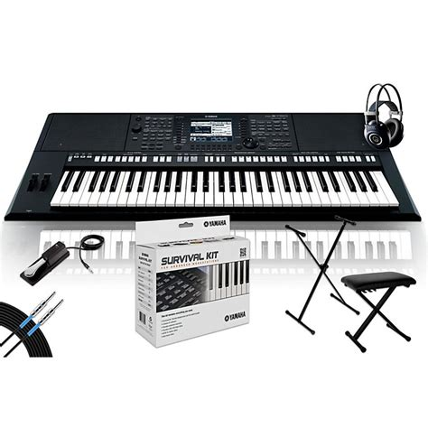 Keyboard Yamaha Psr S750 Second yamaha psr s750 with m90 mkii bench stand sustain pedal musician s friend