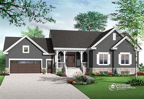 traditional ranch home with open floor plan concept