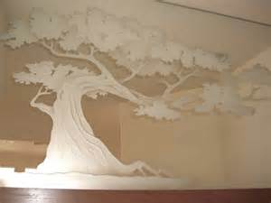 Etched Glass Mirrors Bathroom - bonsai tree decorative mirror with etched carved design bathroom other metro by sans