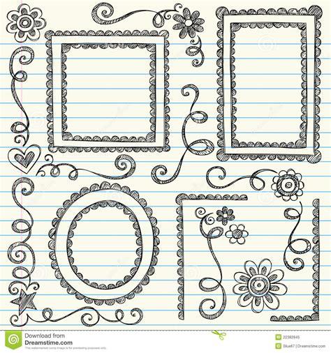 doodle lã sung marcos incompletos de nuevo a vector determinado