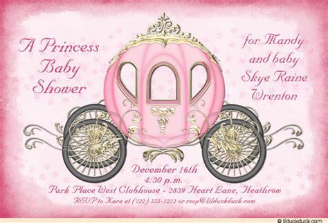 Cinderella Baby Shower by Pink Cinderella Baby Shower Cards Princess Enchanting