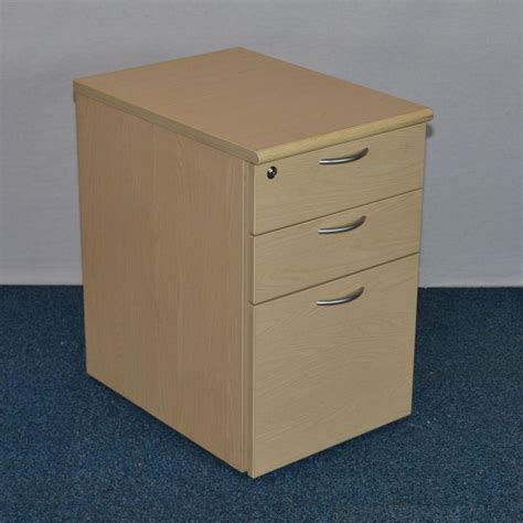 ash 3 drawer desk pedestal