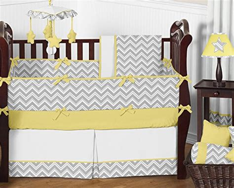 Yellow And Grey Nursery Bedding Yellow And Gray Chevron Crib Bedding