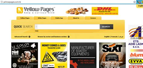 Yellow Page Search Lebanese Yellow Pages Website Database Compromised