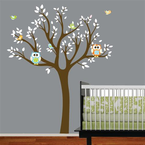 Nursery Wall Tree Decals Home Improvements Vinyl Wall Decal Tree Nursery Removable Vinyl Sticker Vinyl Wall Decal Tree