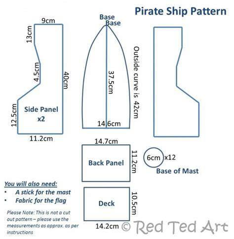 pirate ship template for how to make a diy pirate ship ted s