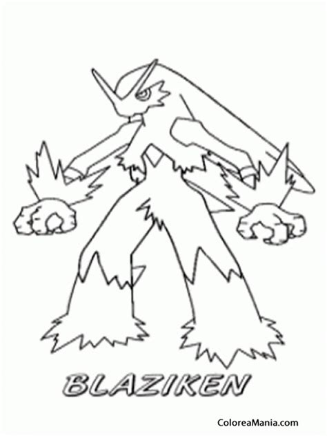 pokemon coloring pages blaziken blaziken pokemon color sheet for images pokemon images