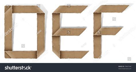 Origami Letter E - origami alphabet letters d e f stock photo 79867948